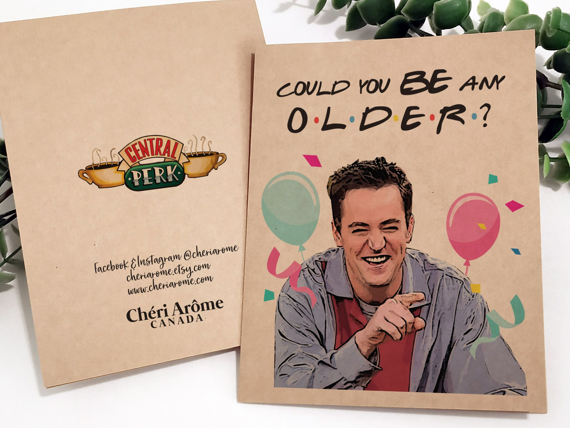 Chandler card in 2020 friends tv birthday cards for