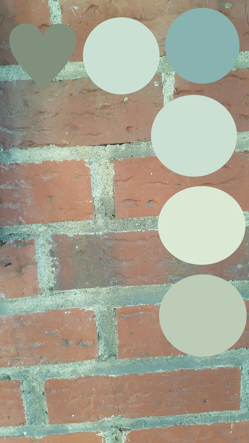 Accent Colors Pulled From Brick Our House Color Scheme Red Orange