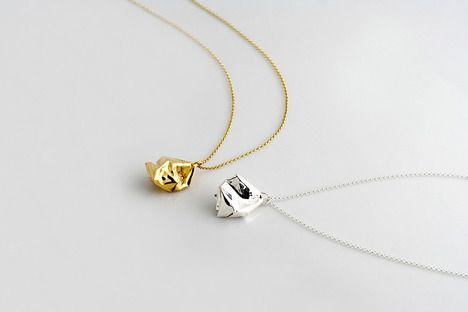 crumple pendant necklace, michael remerich