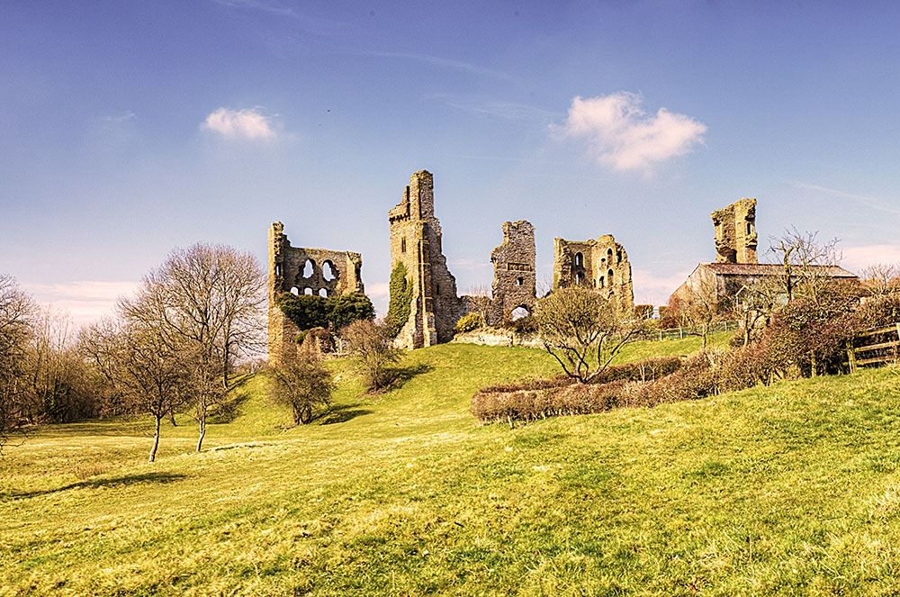 old English castle ruins