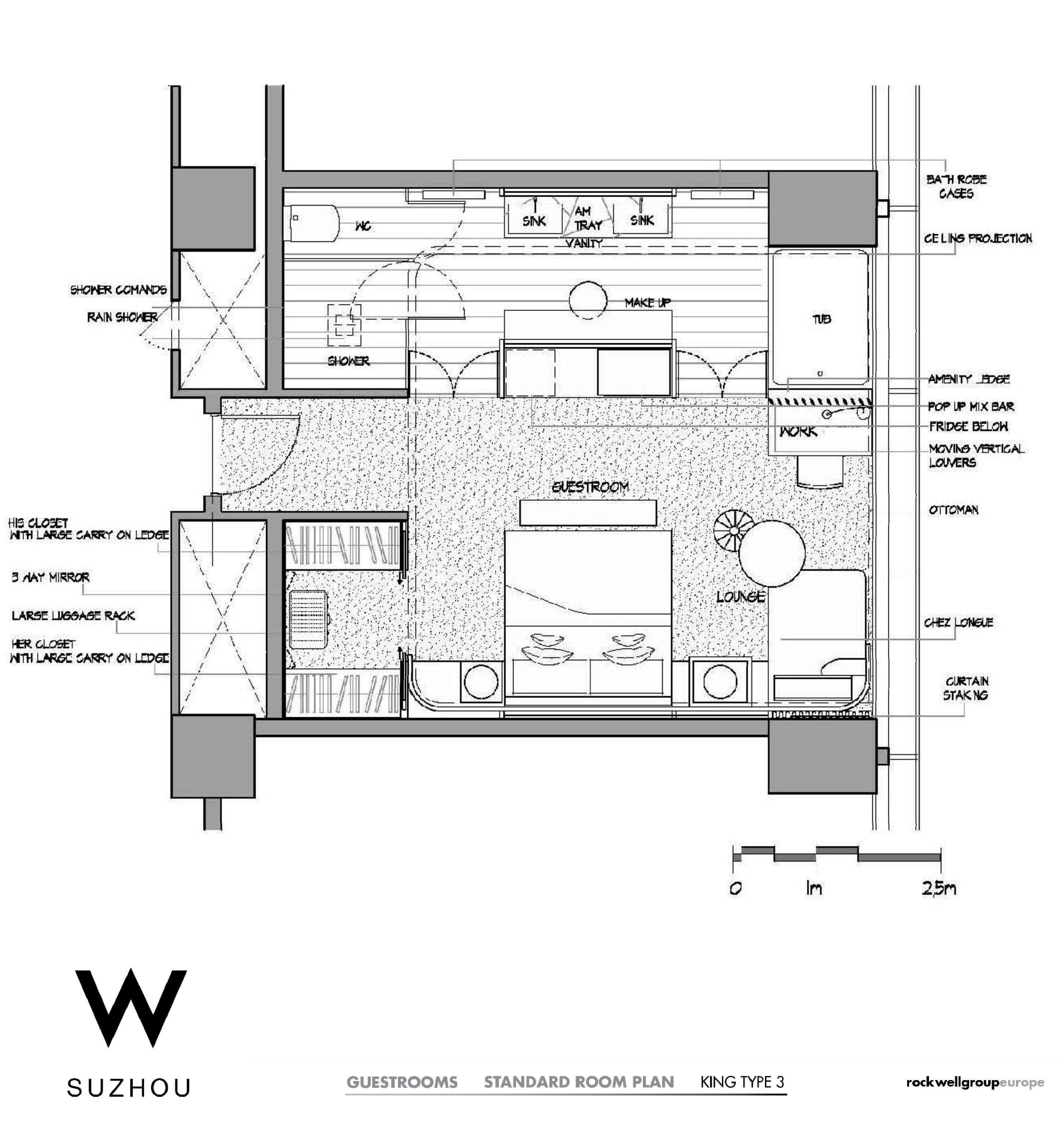 W Suzhou Hotel Floor Plan Architectural Floor Plans Hotel Room Design Plan