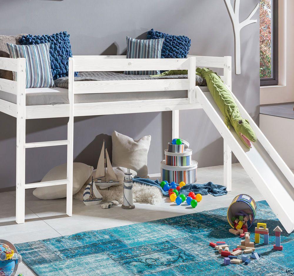 Kinderbett Hochbett mit rutsche Leiter Hochbett Spielbett