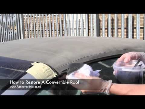 How To Clean A Convertible Soft Top Youtube Roof Convertible Repair