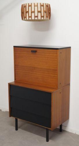 Bureau Secrtaire Teck 1950 Design Scandinave Vintage Loft Shabby