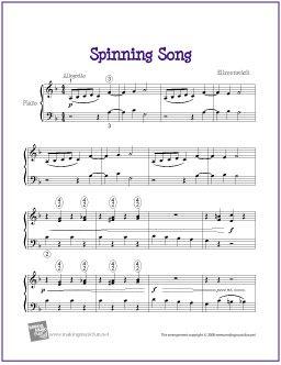 Spinning Song Ellmenreich Piano Sheet Music Sheet Music