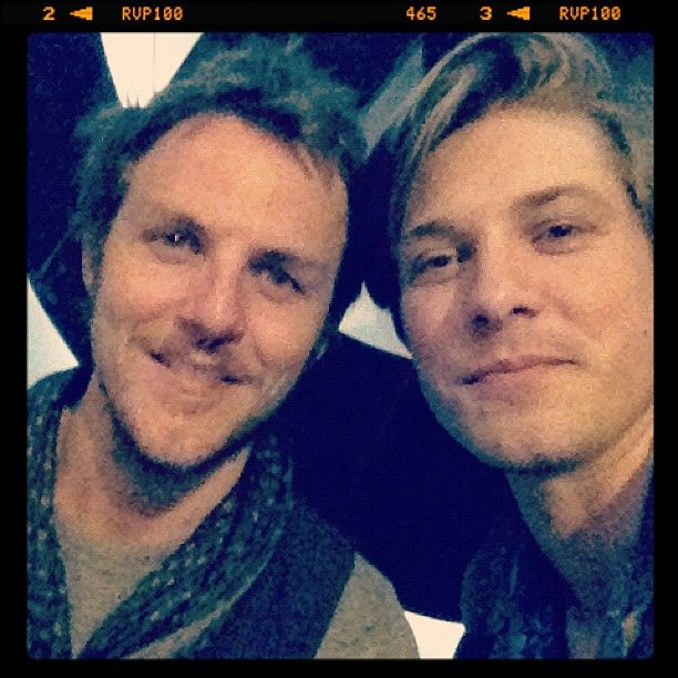 Hangin out with bud Charlie Mars during a great evening at SXSW #hanson #sxsw www.hanson.net