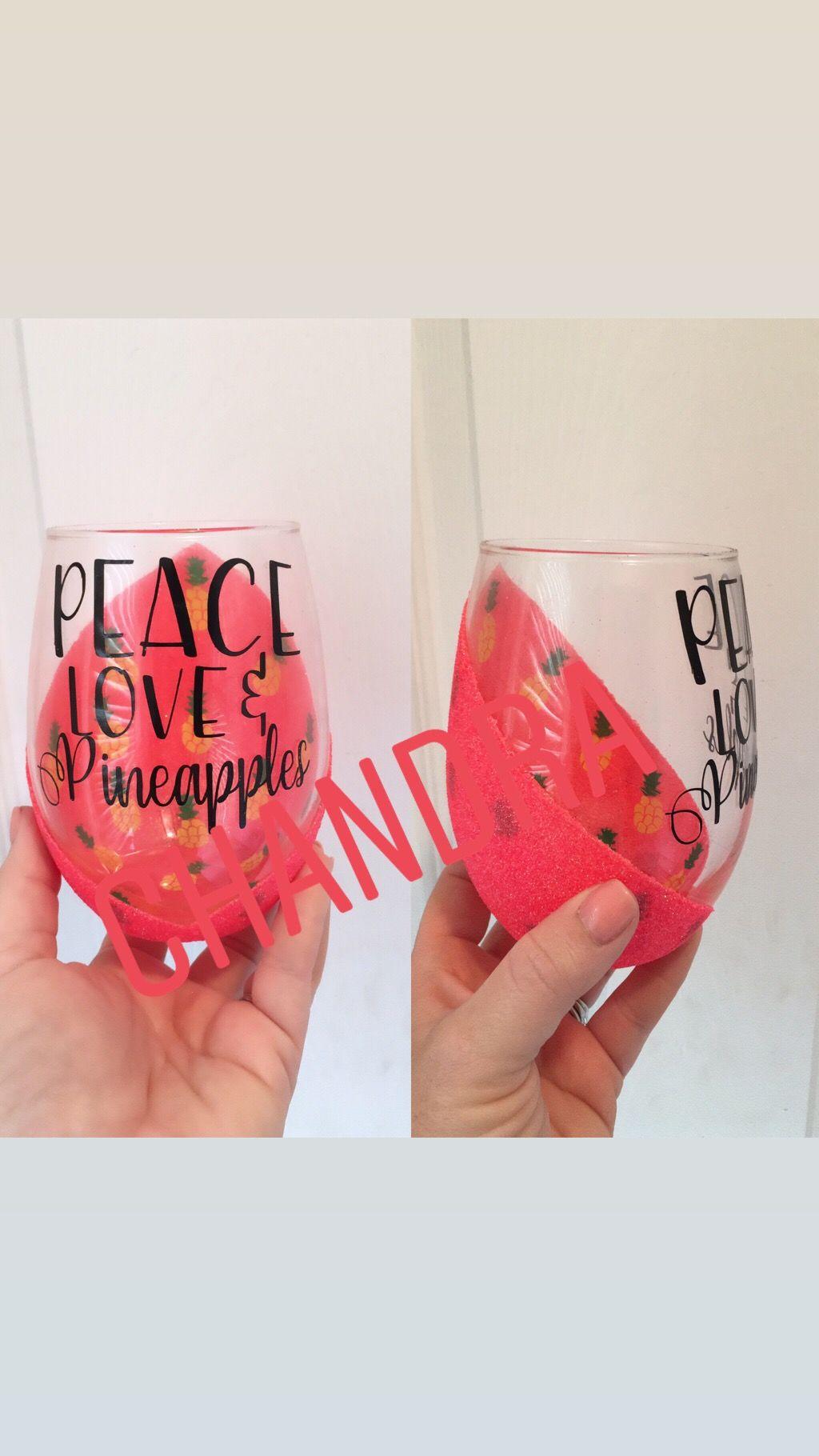 Peek A Boo Wine Glass Glitter Wine Glass Wine Glass Vinyl Glitter Wine Glasses Diy