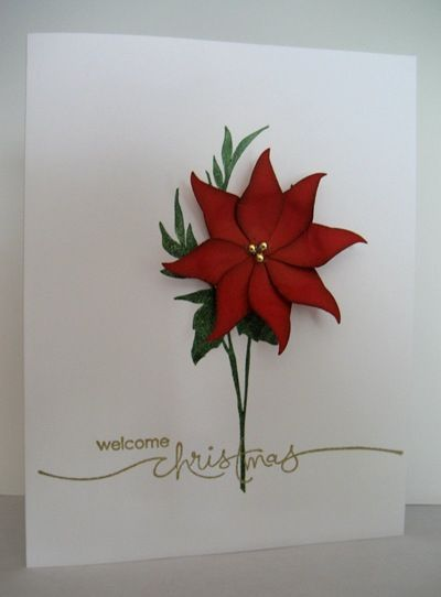 Poinsettia Christmas Card 7/17/2011