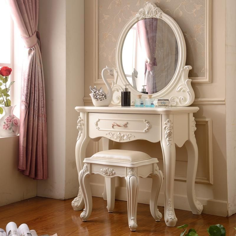 Best Maple Furniture Mirror Ivory White Makeup Table Style 400 x 300