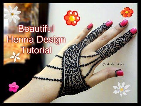Beautiful Henna Mehndi Jewellery : Easy simple beautiful henna mehndi designs for hands jewellery