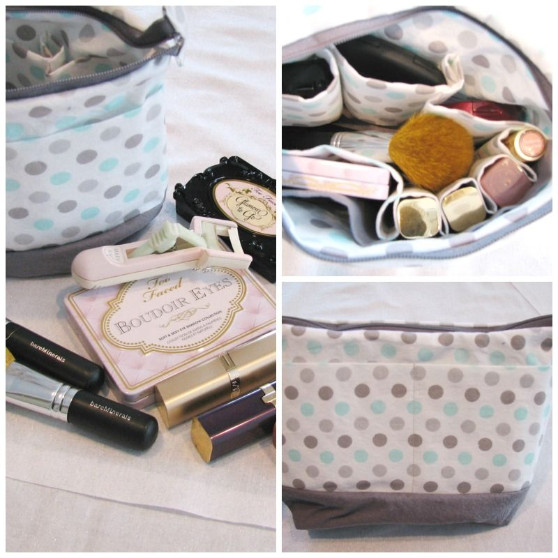Here is a make-up bag that has pockets on the outside and compartmentalized on the inside. To organize all your essentials leaving the center open for brushes or more makeup. Your sure to love  this make-up bag. For more be sure to go to www.irresistibleflair.com sign up for the email get a  20% discount.