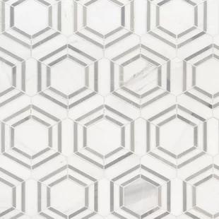 Itona Tile Harrison 6 X 6 Natural Stone Mosaic Tile Wayfair