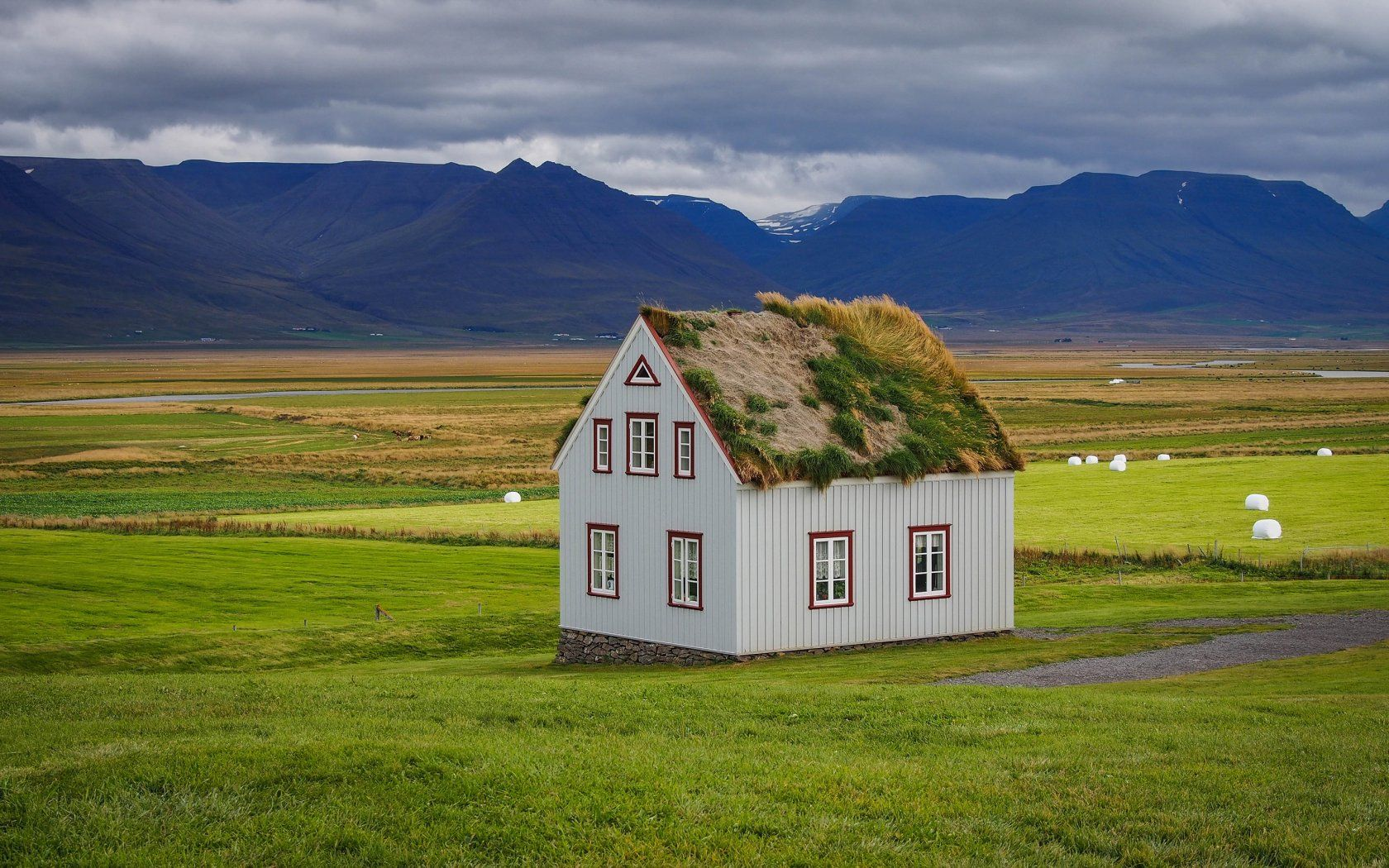 Sod-House Iceland Mountain Nature