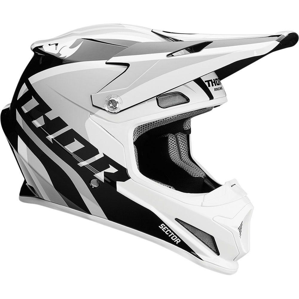 Thor 2017 Sector Ricochet White X2f Grey Helmet At Mxstore