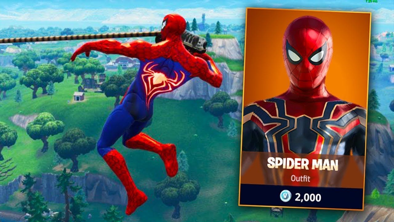Leaked SPIDERMAN SKIN Fortnite Gameplay (Coming Quickly