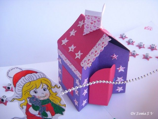 Cards Crafts Kids Projects House Pop Up Card Tutorial And Template Pop Up Card Templates Card Tutorial Pop Up Cards