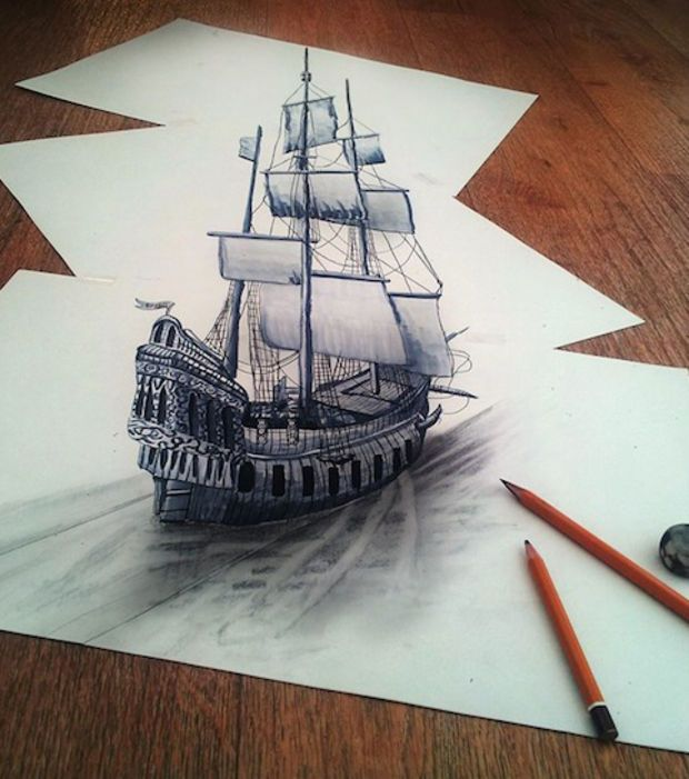Photos Dessin Couleur Bateau Pirate Page 10 Dessins 3d Au Crayon Bateau Pirate Dessin Pirates Dessin