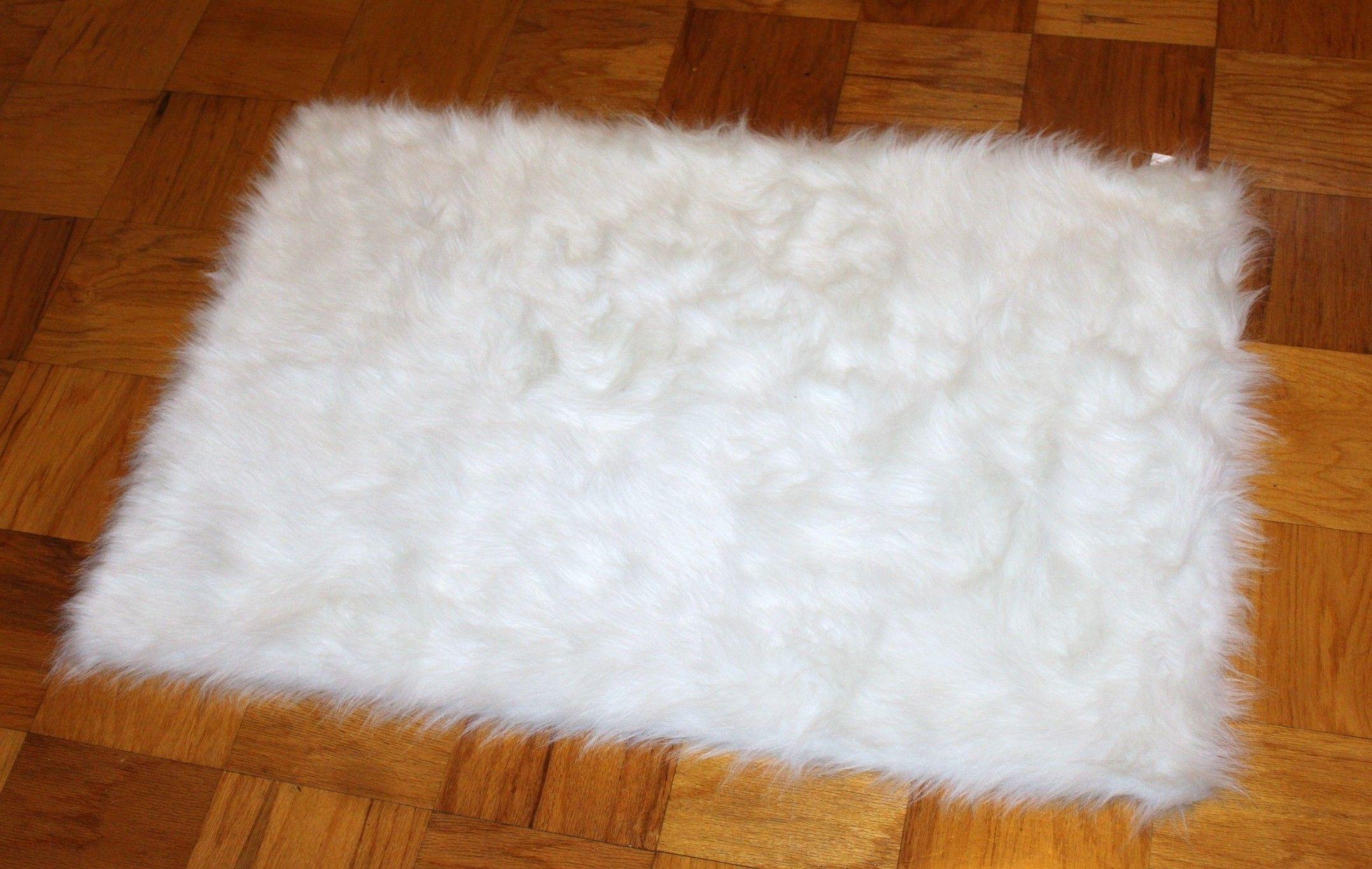 White Fur Rug All White Fur Pinterest