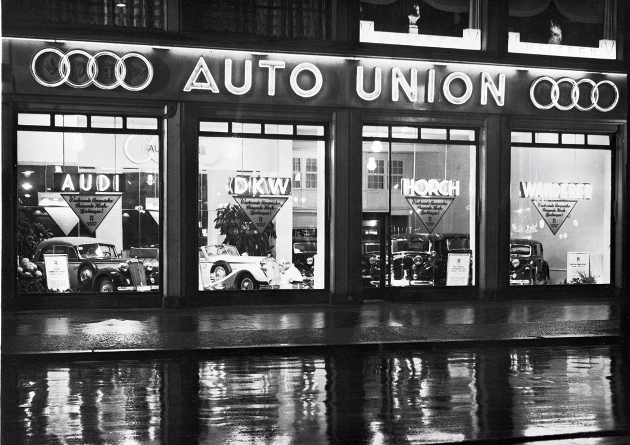Auto Union dealership, circa 1936.
