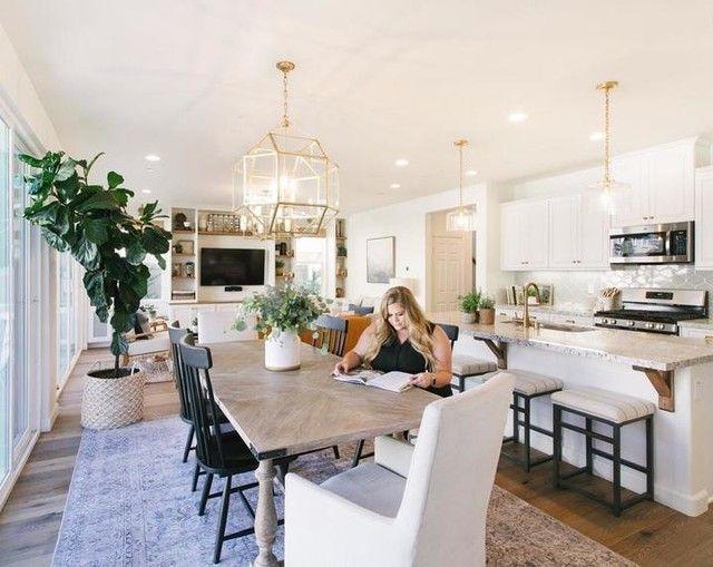 Katie Dome Pendant Open Concept Kitchen Living Room Living Room Dining Room Combo Living Dining Room