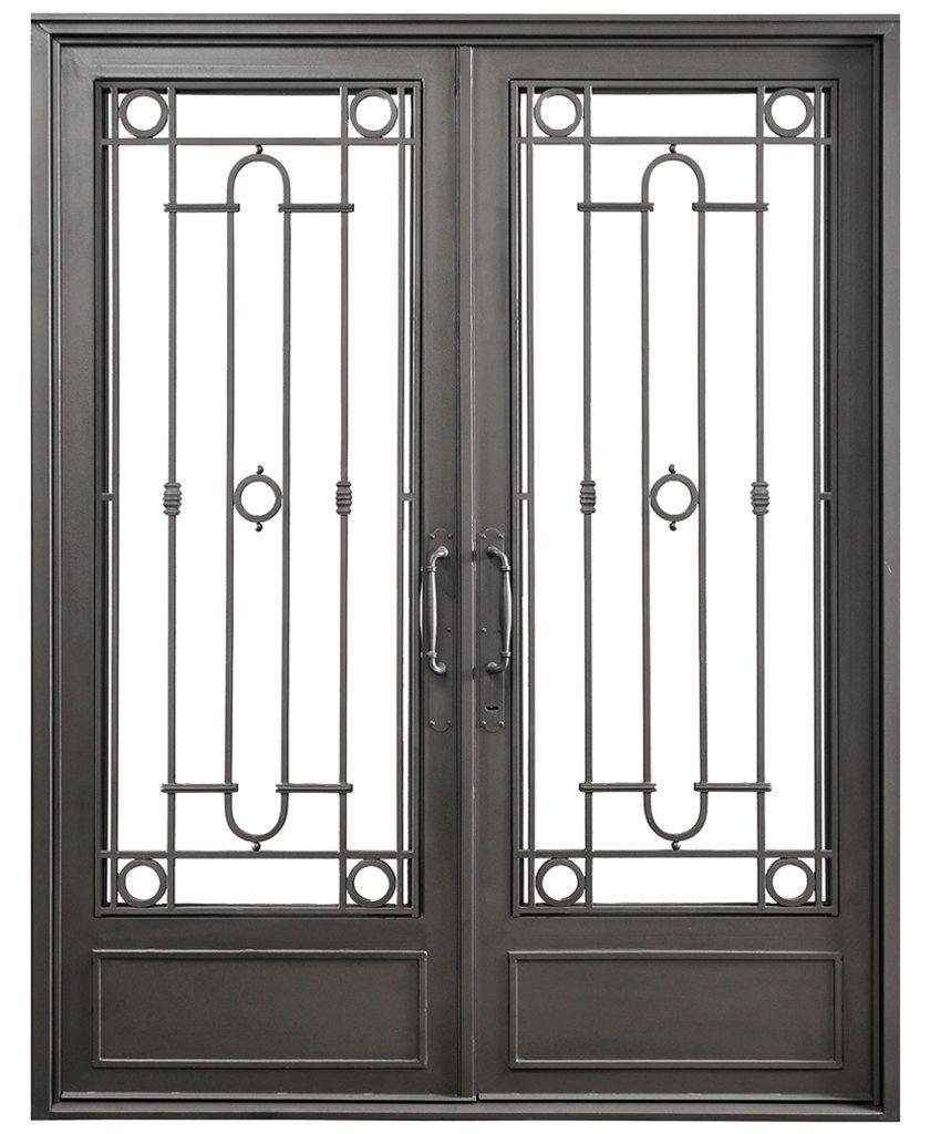 Puerta doble hoja recta f tima del hierro design del - Puertas doble hoja ...