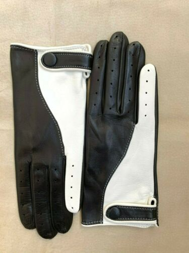 Men/'s Black Driving Leather Gloves Handmade