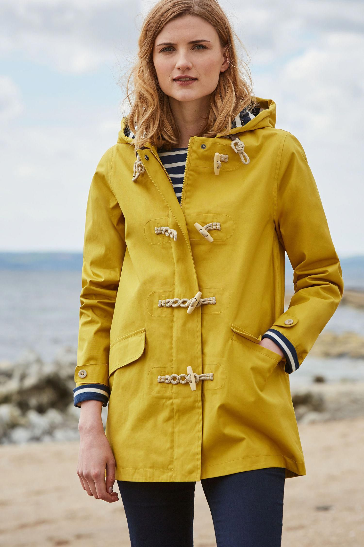 An irresistible womenus raincoat inspired by traditional fishermenus