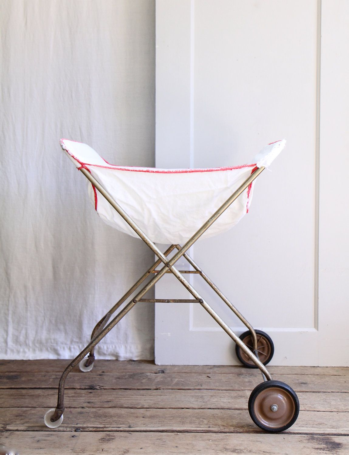 Vintage Rolling Laundry Cart Vintage Laundry Laundry Cart Vintage
