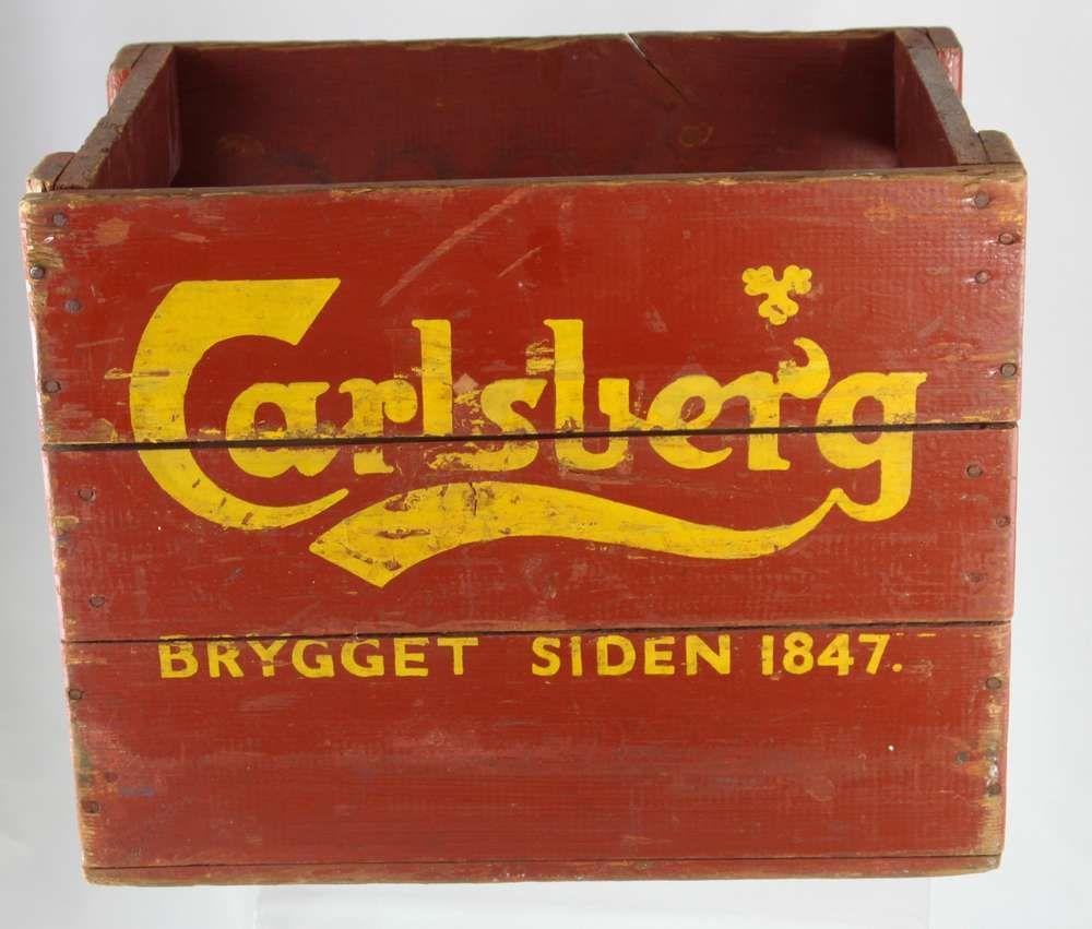 carlsberg bier - holzkiste - getränkekiste - flaschenkiste | werbung