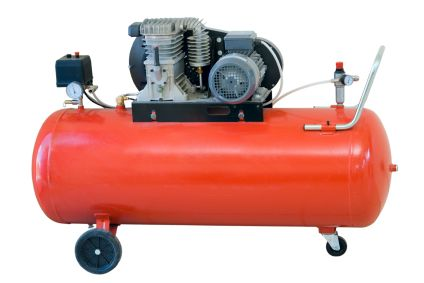 An air compressor is a machine that converts power into