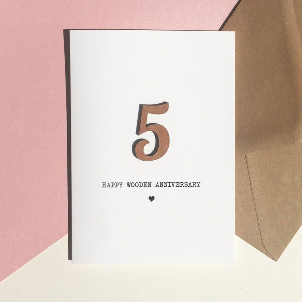 Greeting Card Simple Th Wedding Anniversary Card Template With