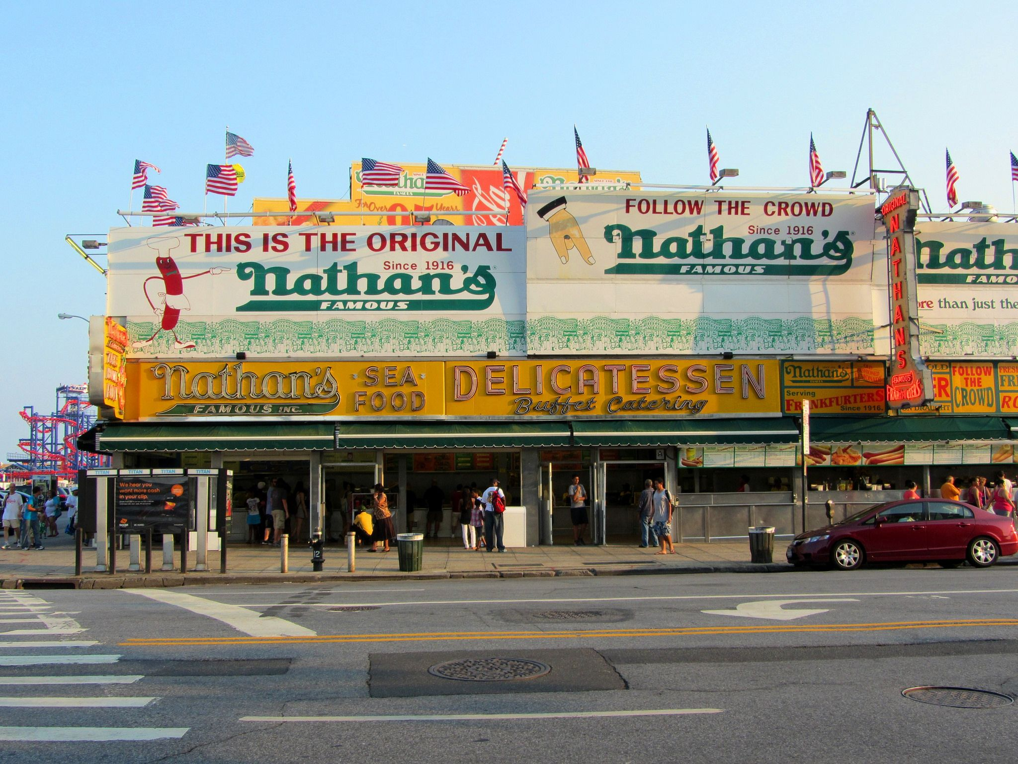 Nathan's Famous hot dog restaurant in New York