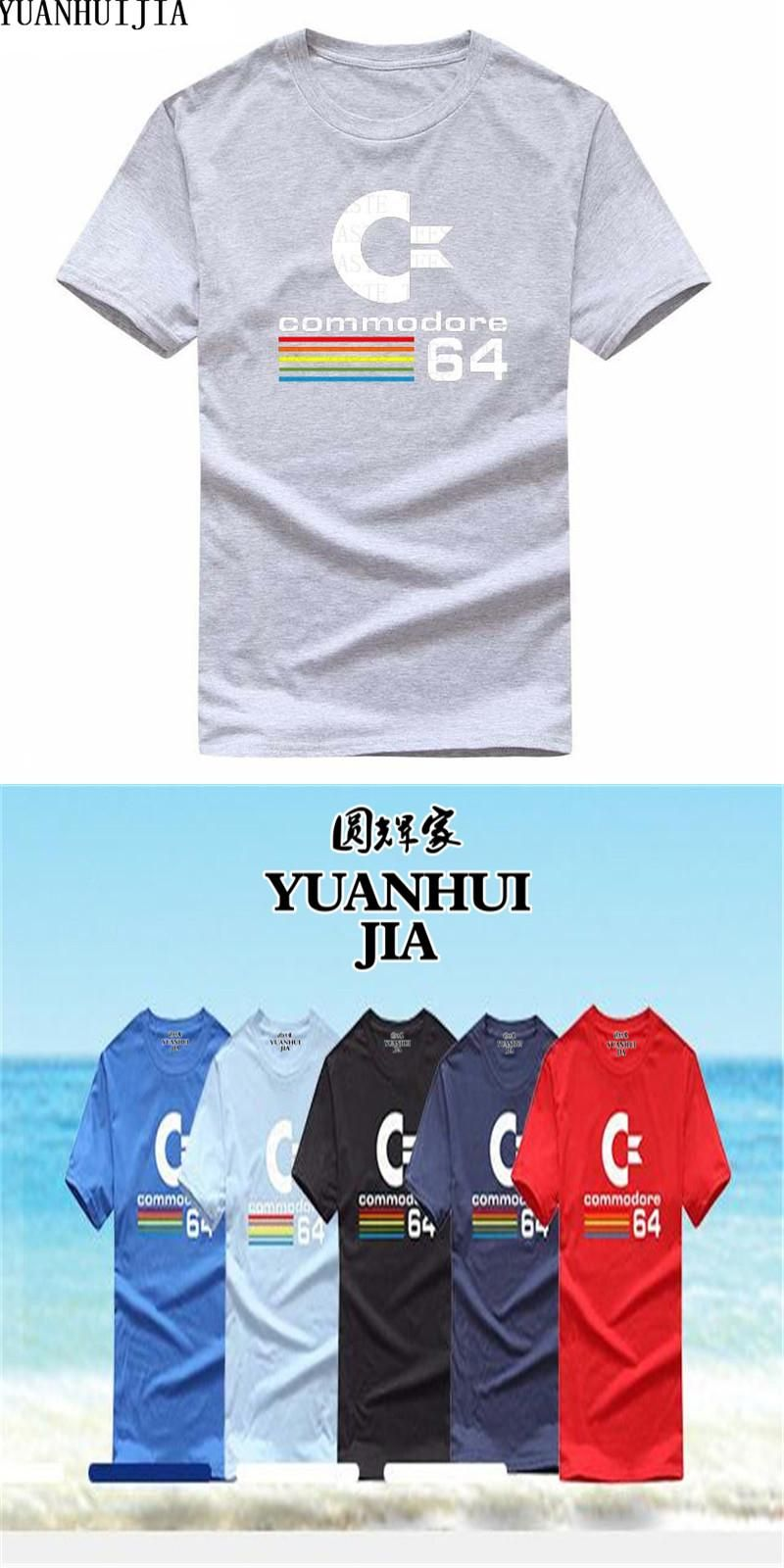 a63ebcd68 Short Sleeve Round Neck T Shirt Promotion Commodore 64 T Shirt For Men  Cotton Custom Printed Adult 100% Cotton Tee Shirt