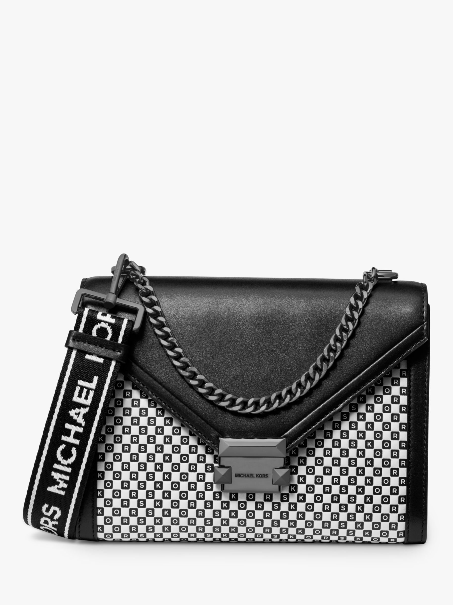 MICHAEL Michael Kors Whitney Small Leather Logo Letter