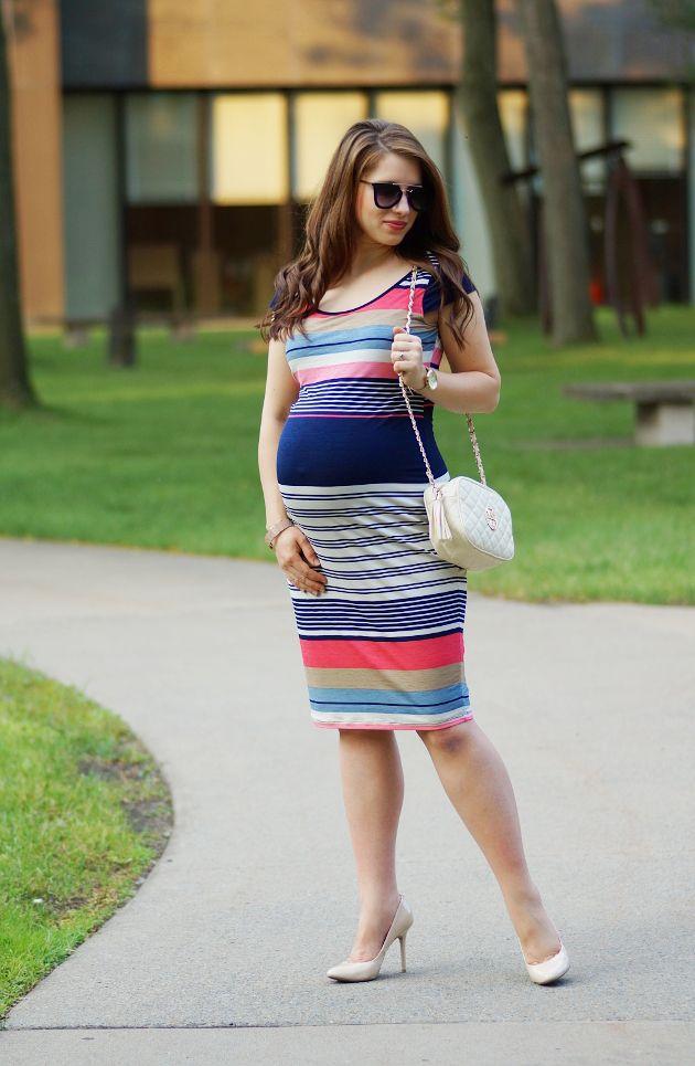12d3fcc6b5cef Happy Medley: Striped Maternity Dress, Jules and Jim Maternity, Amazon,