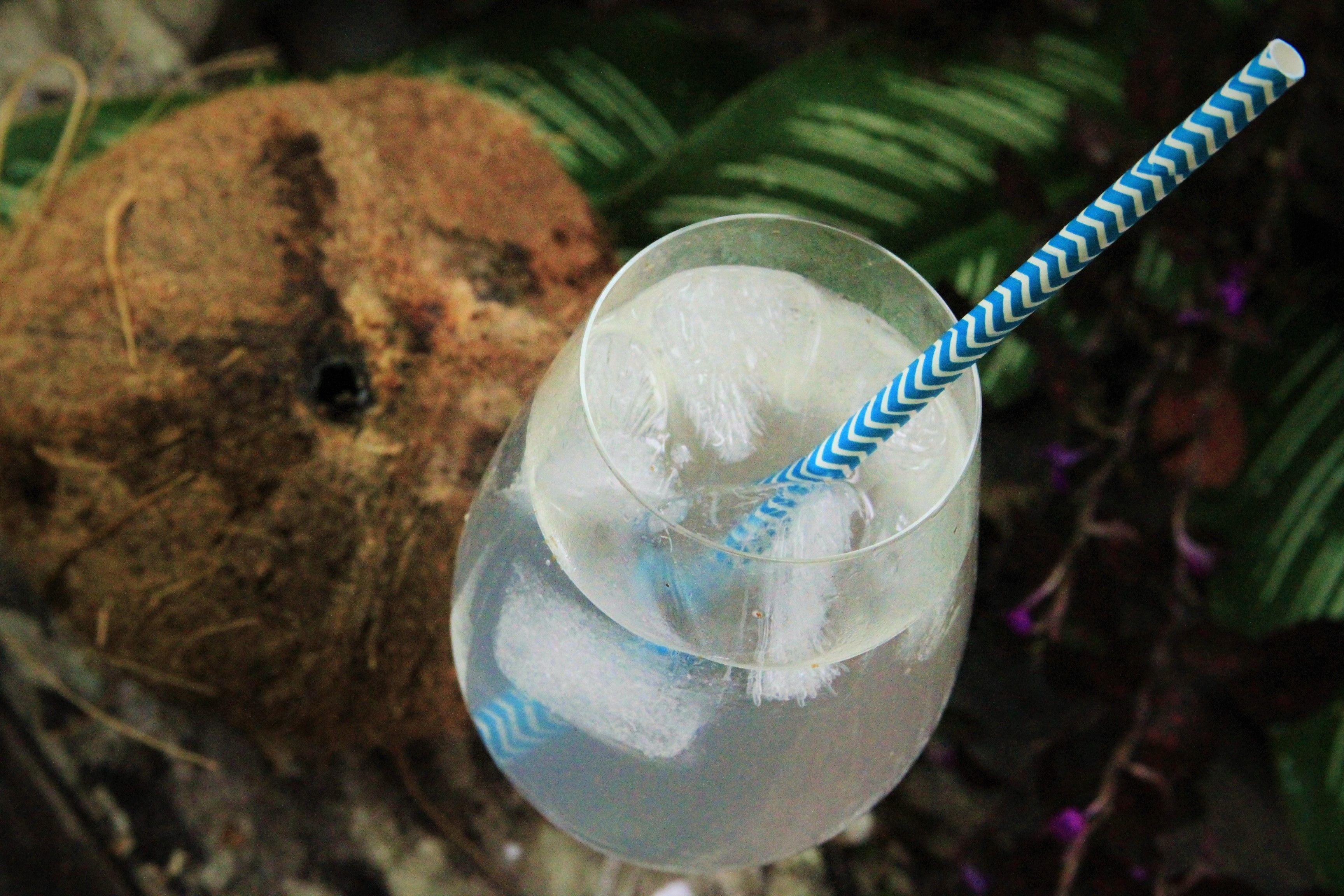 Água de coco com glamour