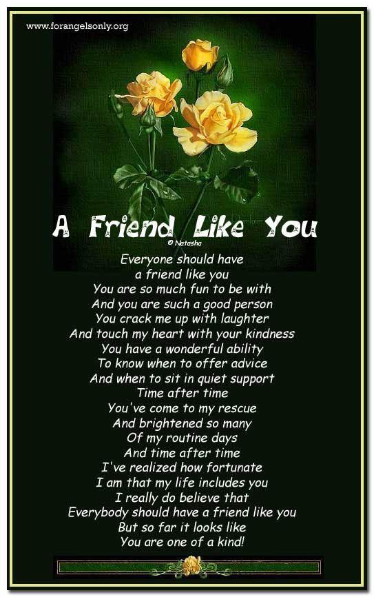 friendship poems | friend Like You : Friendship Poetry ...