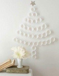 Arbol De Navidad Hecho Con Vasos De Plastico Tutorial Reciclaje - Arbol-de-navidad-con-vasos-de-plastico