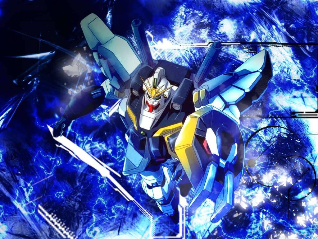 Gundam Sandrock On Blue
