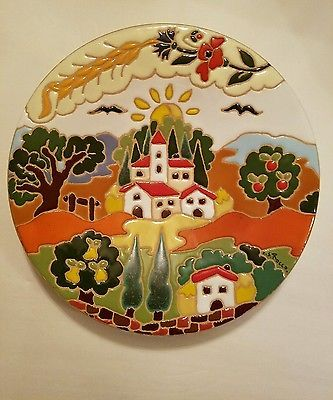 Italian Decorative Plates For Hanging.Details About Lot 6 Italian Italy Pottery Ceramic Hand
