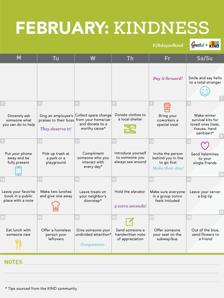 February health challenge
