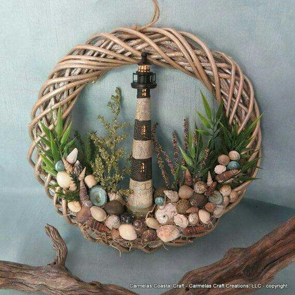 38 Gorgeous Beach House Decor Ideas Seashell Crafts Seashell