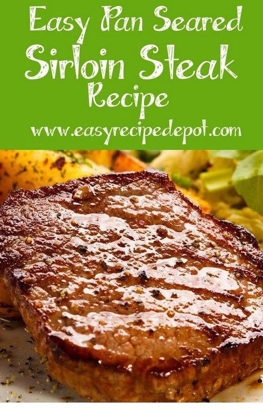 Easy Pan Seared Sirloin Steak Recipe | Steak Recipes | #tipstravel #beefsteakrecipe