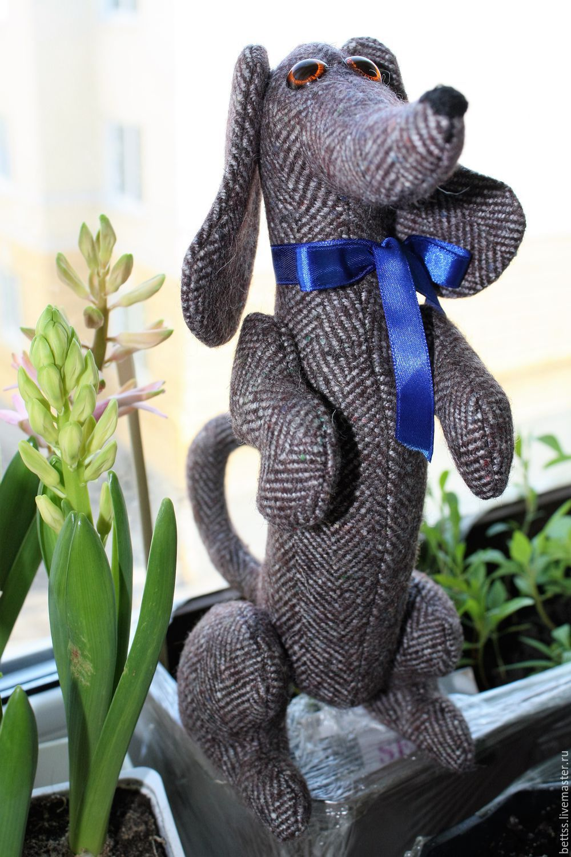 """Купить """"Такса Бим"""" текстильная игрушка - такса, собака, текстильная кукла…"""