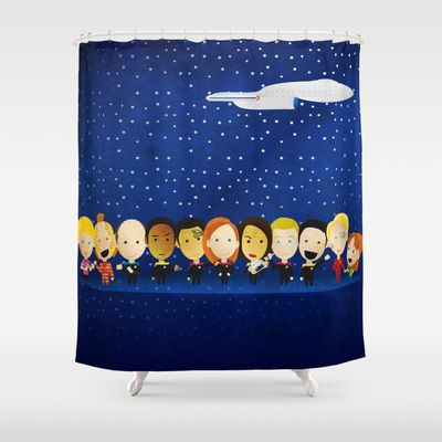 Star Trek Voyager Shower Curtain By Trek Things With Images