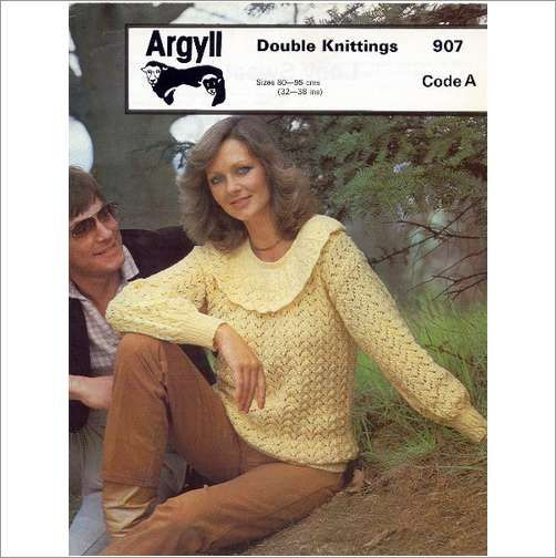 Ladies Sweater Jumper Double Knitting Pattern Womens Dk Argyll