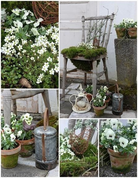 Garden crafts for DIY gardeners. So going to try the chair idea ...