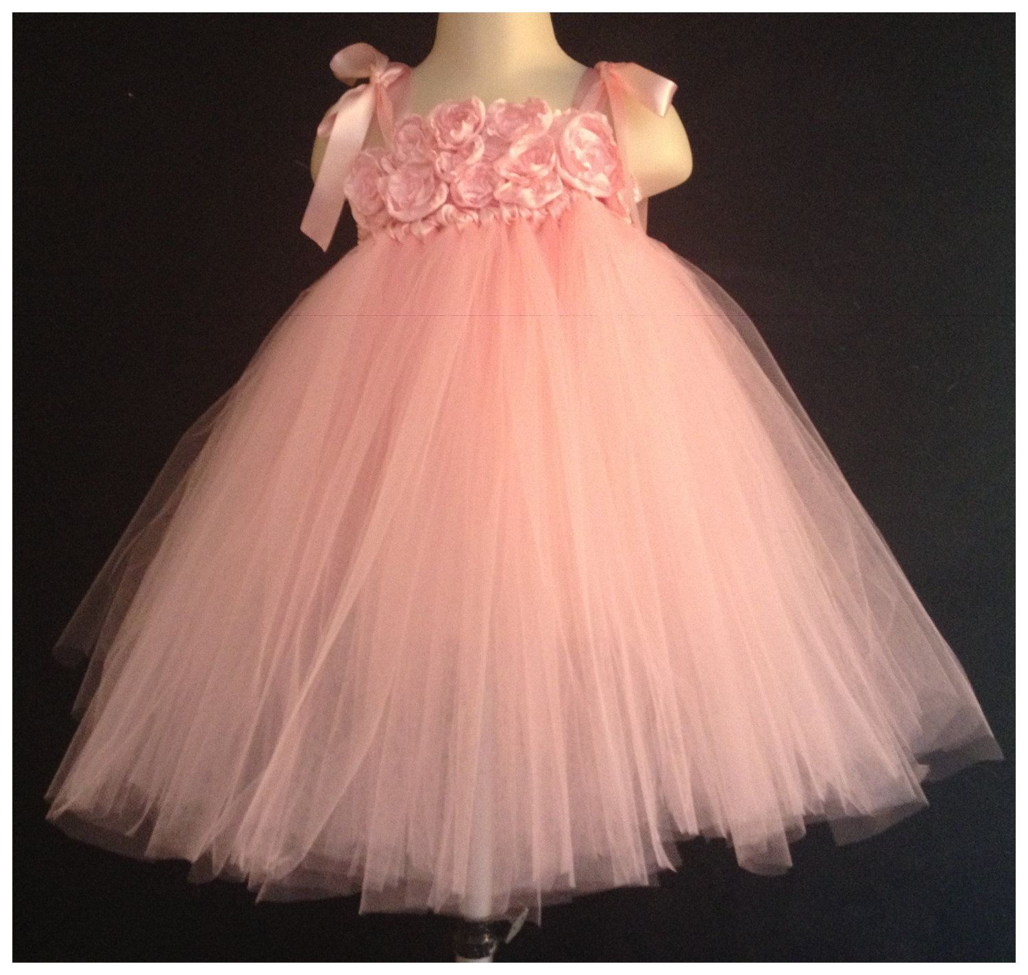 Pink tutu dress for the birthday photo session