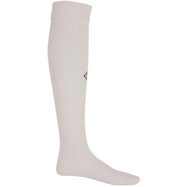 Umbro Player Soccer Socks 5 99 Liked On Polyvore Featuring Intimates Hosiery Socks White Umbro White Socks Umbro Socks And Soccer Socks Umbro Socks