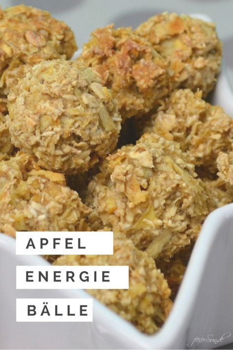 Apfelsnacks als Energiebällchen | feierSun.de #interessen